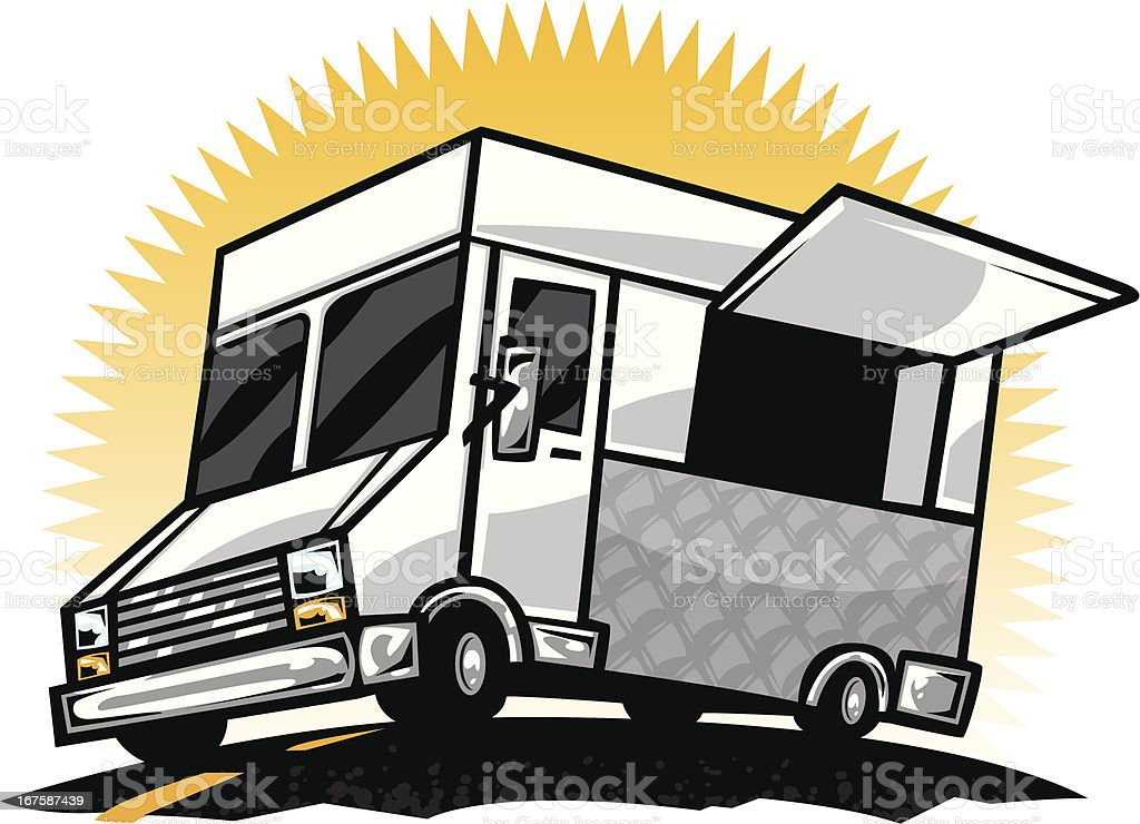 Cartoon Food Truck Royalty Free Stock Vector Art Amp More Images
