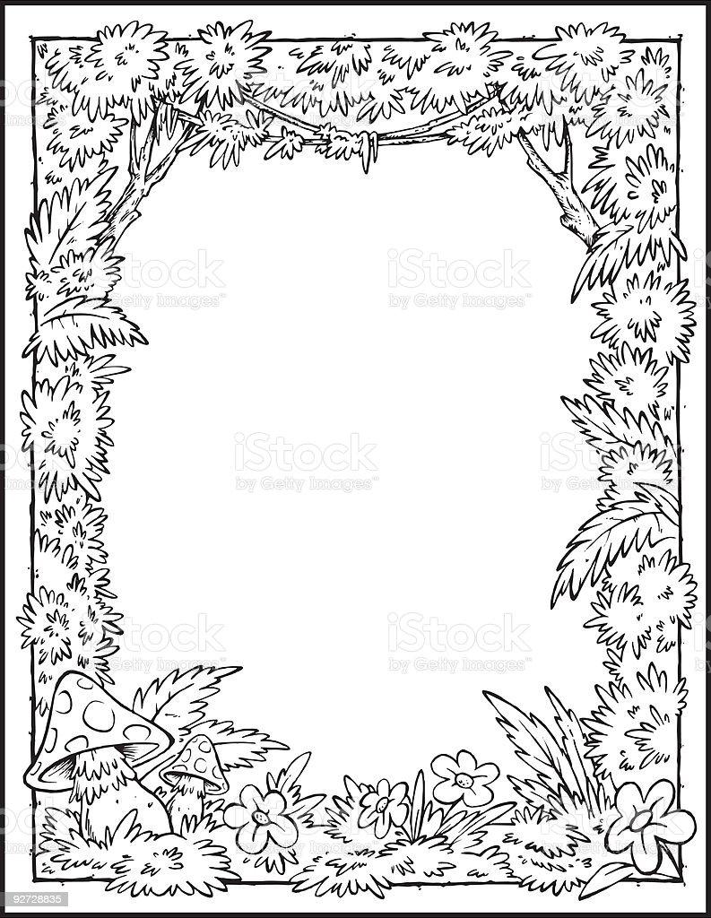 Vetores De Desenho De Floresta Fundo Preto Branco E Mais Imagens