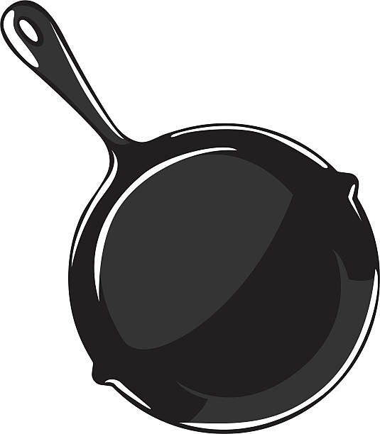 cartoon frying pan simple frying pan graphic frying pan stock illustrations