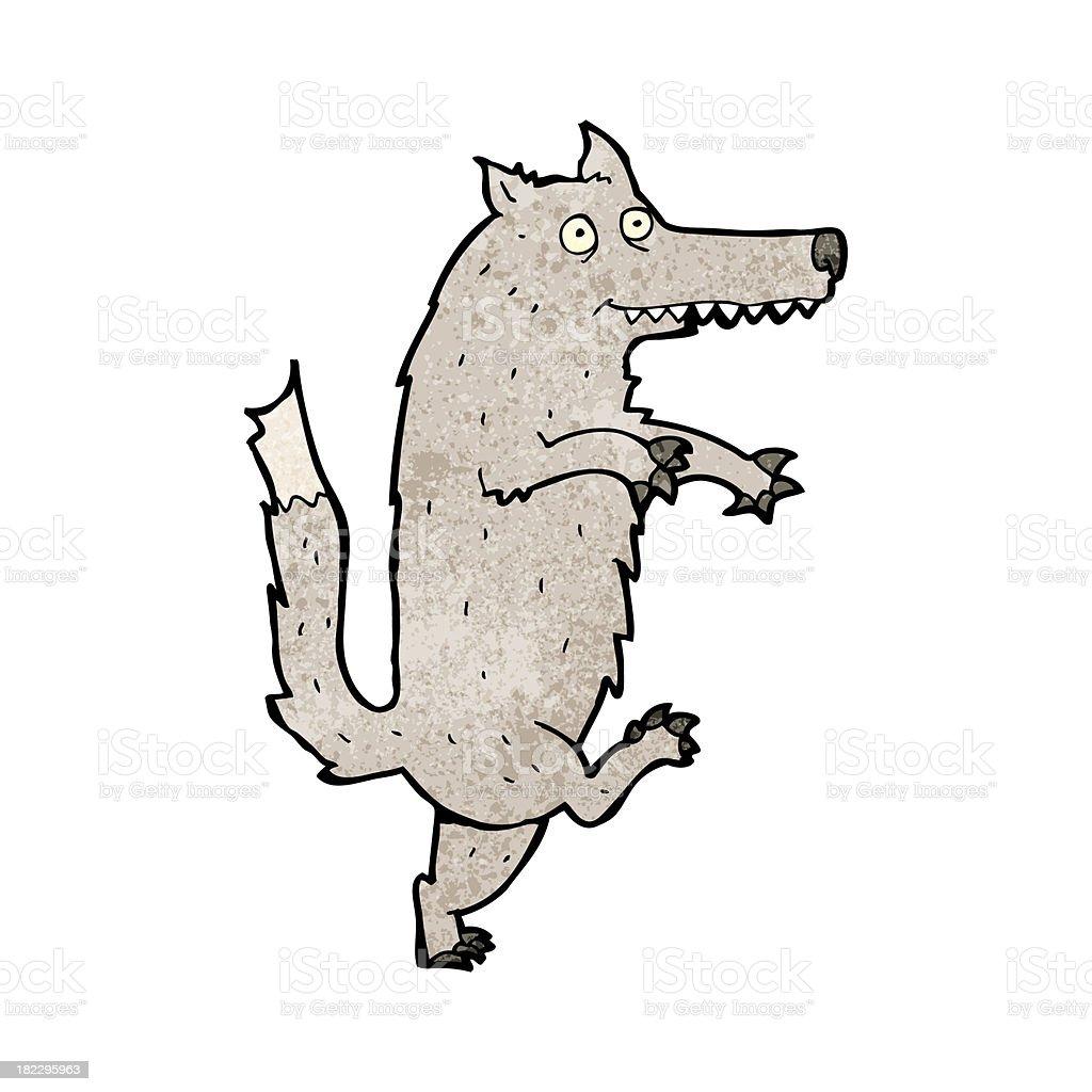 カットイラストオオカミの面白い いたずら書きのベクターアート素材や
