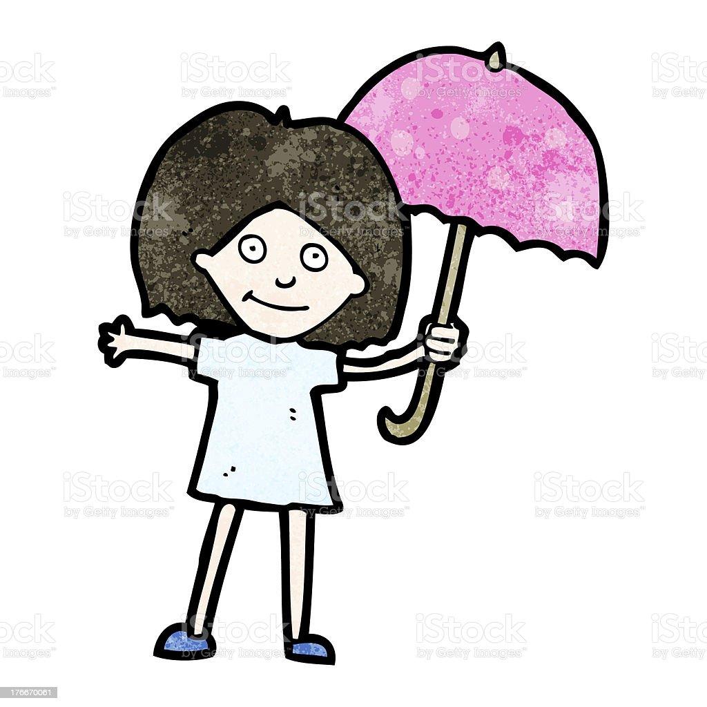 cartoon girl with umbrella royalty-free cartoon girl with umbrella stock vector art & more images of adult