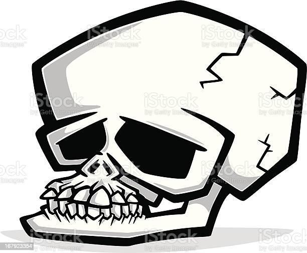 Cartoon Human Skull Stock Illustration - Download Image Now