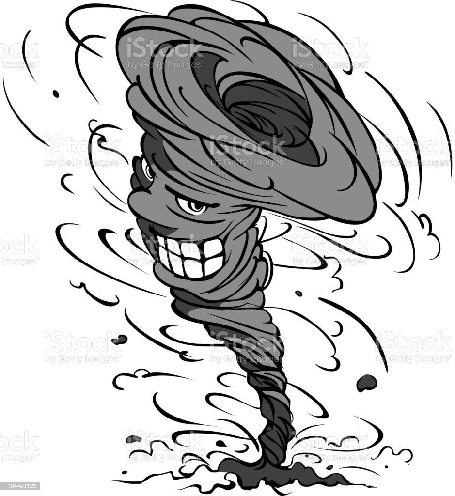 Cartoon hurricane royalty-free stock vector art