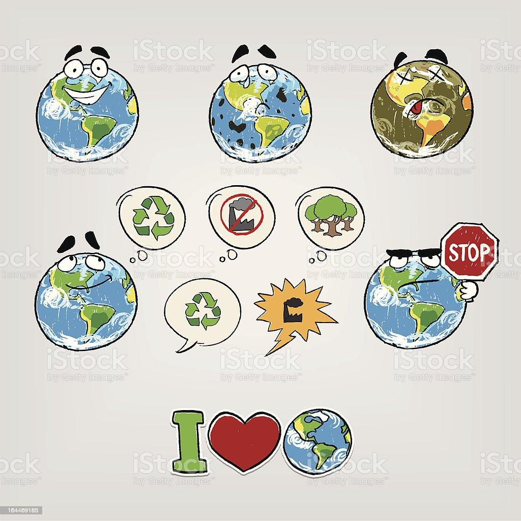Illustration De Dessin Animé Terre Vecteurs Libres De Droits