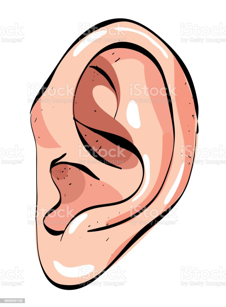 Cartoon image of human ear stock vector art more images - Clipart oreille ...