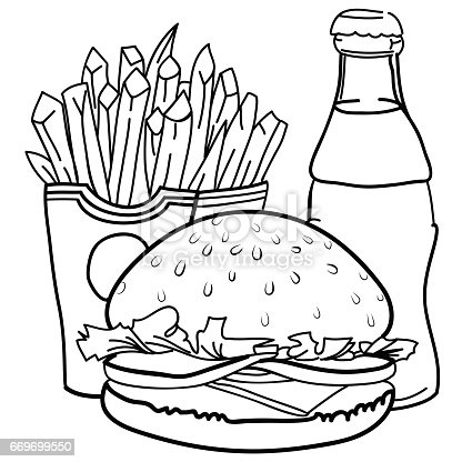 Cartoon Image Of Junk Food Cola Drink Stock Vector Art ...