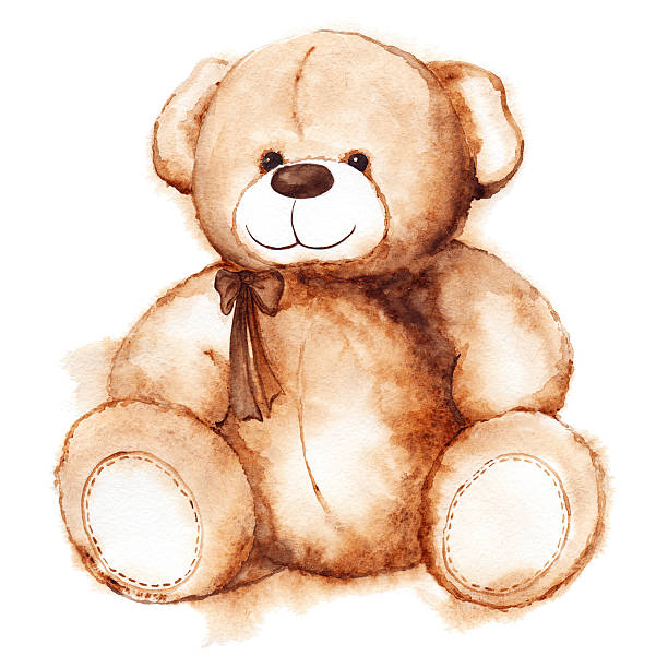 ilustrações de stock, clip art, desenhos animados e ícones de rapaz adorável urso de pelúcia brinquedo santo dia dos namorados isolado - teddy bear