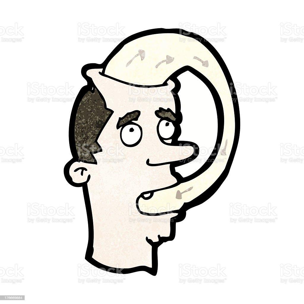 Hombre de historieta comiendo sus palabras ilustración de hombre de historieta comiendo sus palabras y más banco de imágenes de adulto libre de derechos