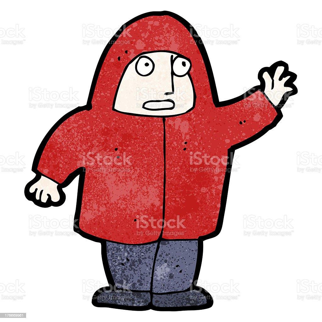 Hombre de historieta en Sudadera con capucha ilustración de hombre de historieta en sudadera con capucha y más banco de imágenes de adulto libre de derechos