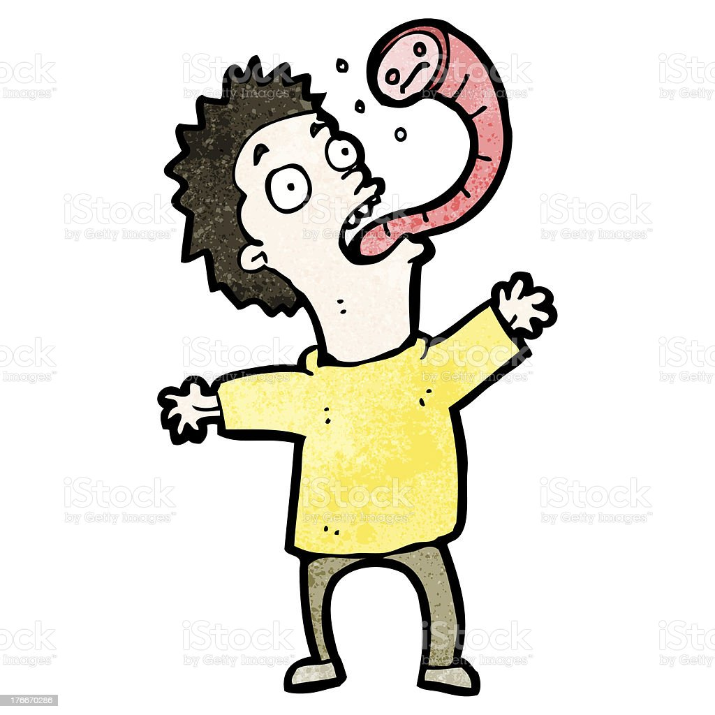 cartoon man with parasite royalty-free cartoon man with parasite stock vector art & more images of adult