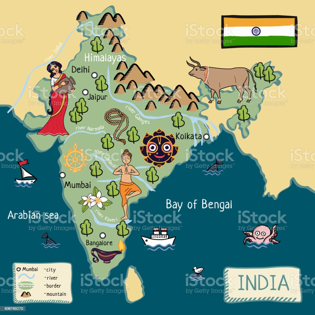 Cartoon Map Of India Stock Illustration Download Image Now Istock Home to about 7.15 million people, the bay area is known for its natural beauty, progressive thinking, liberal politics, entrepreneurship and diversity. cartoon map of india stock illustration download image now istock
