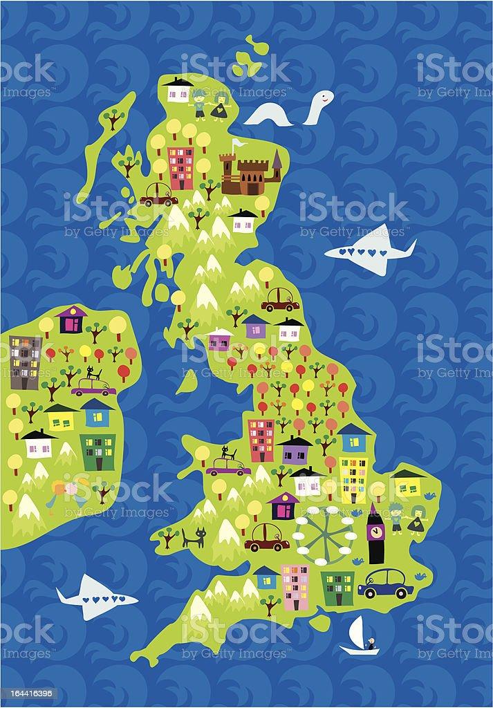 Dessin Carte Du Royaumeuni Vecteurs libres de droits et ...
