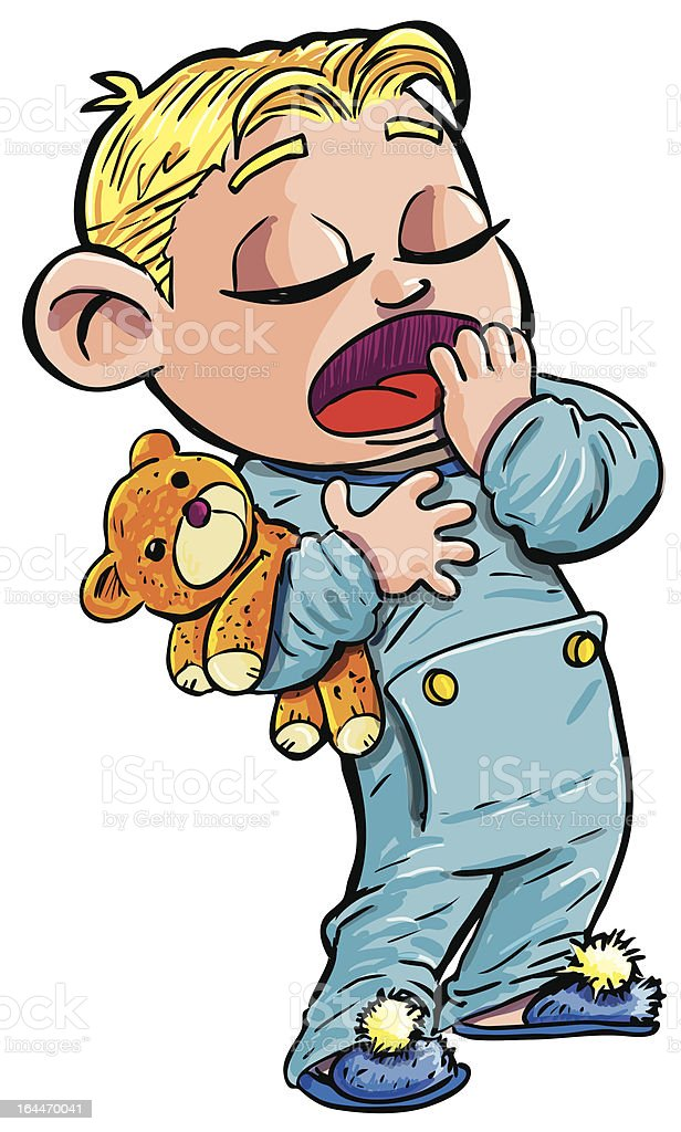 royalty free cartoon of sleepy little boy yawning clip art vector rh istockphoto com yawning clipart gif boy yawn clipart