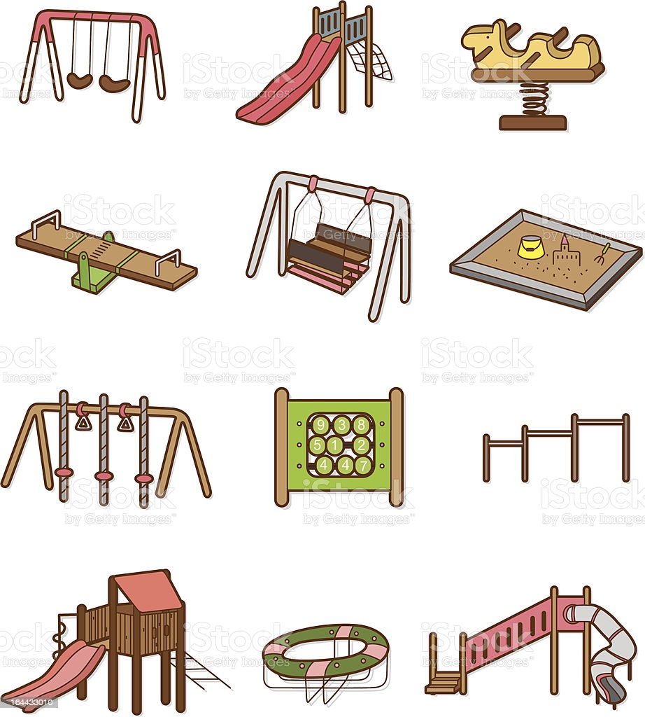 Cartoon Park Playground Icons Set Stock Vector Art Amp More