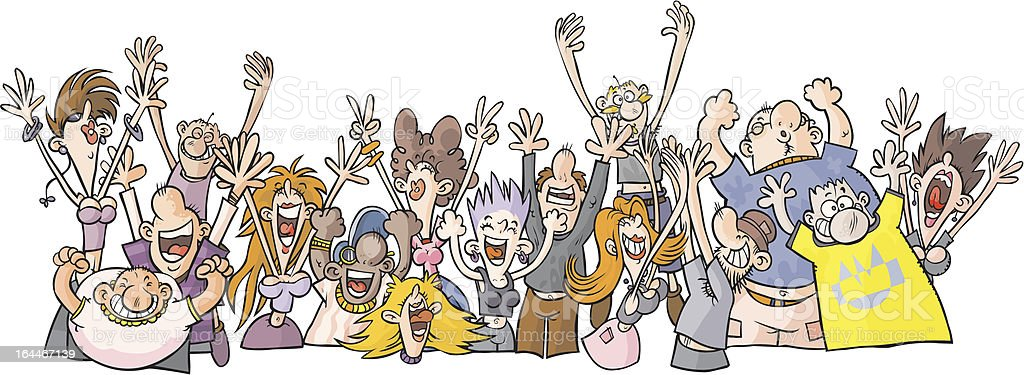 Cartoon Party People. royalty-free stock vector art