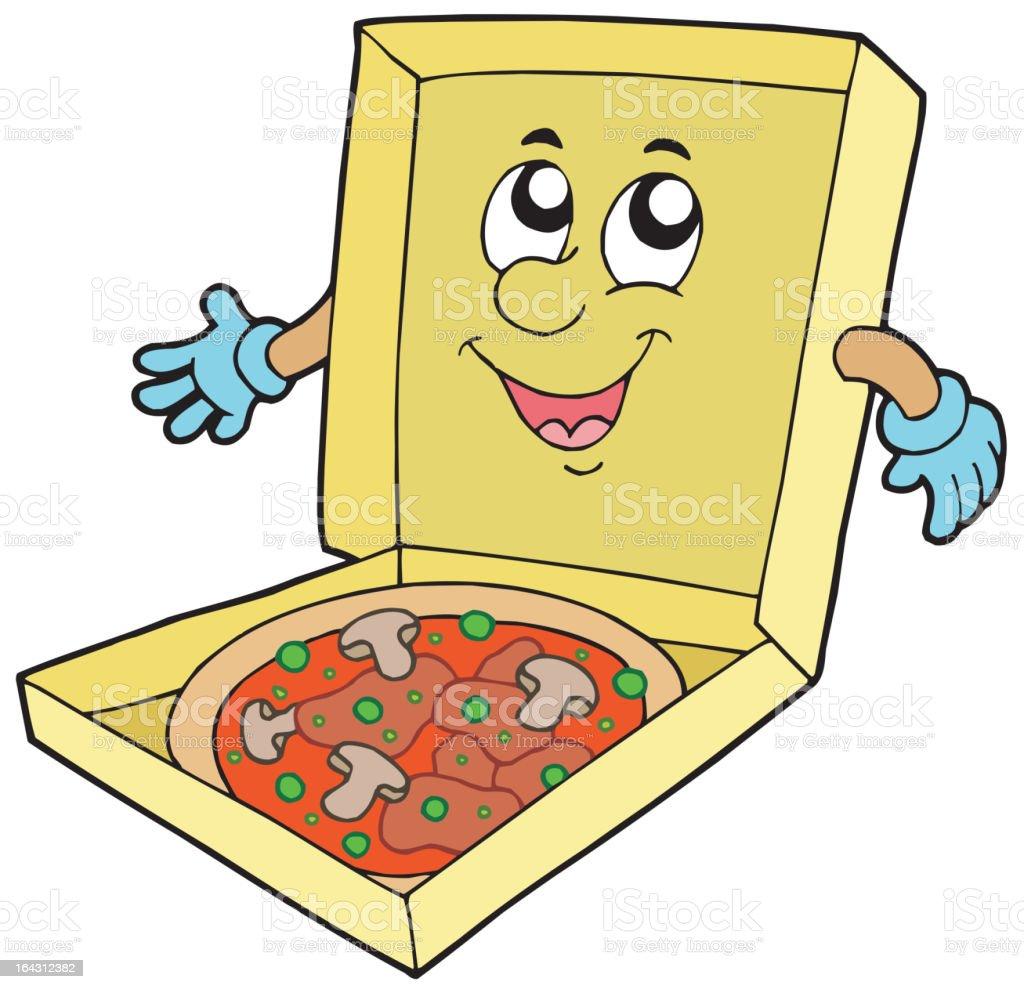 Cartoon pizza box royalty-free stock vector art
