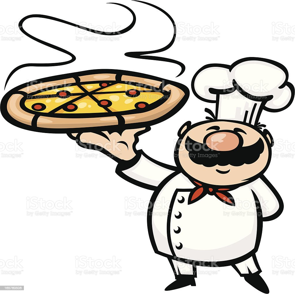 Cartoon Pizza Chef Stock Illustration - Download Image Now ...
