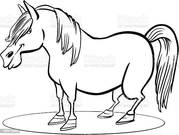 Cartoon pony horse coloring page illustration id163918953?b=1&k=6&m=163918953&s=612x612&h=e lbfqqspskt lsvte11jeysbzrwcn2am3pr1un7lqy=