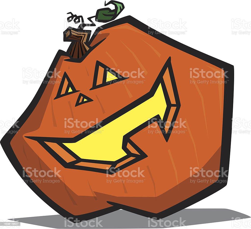 Cartoon Pumpkin Funky cartoon pumpkin/jack-o-lantern with a happy face carved into it. Autumn stock vector
