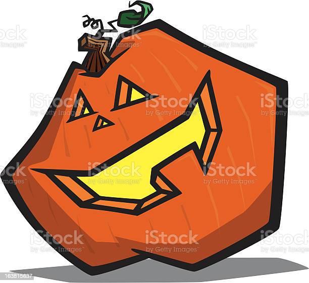Cartoon Pumpkin Stock Illustration - Download Image Now
