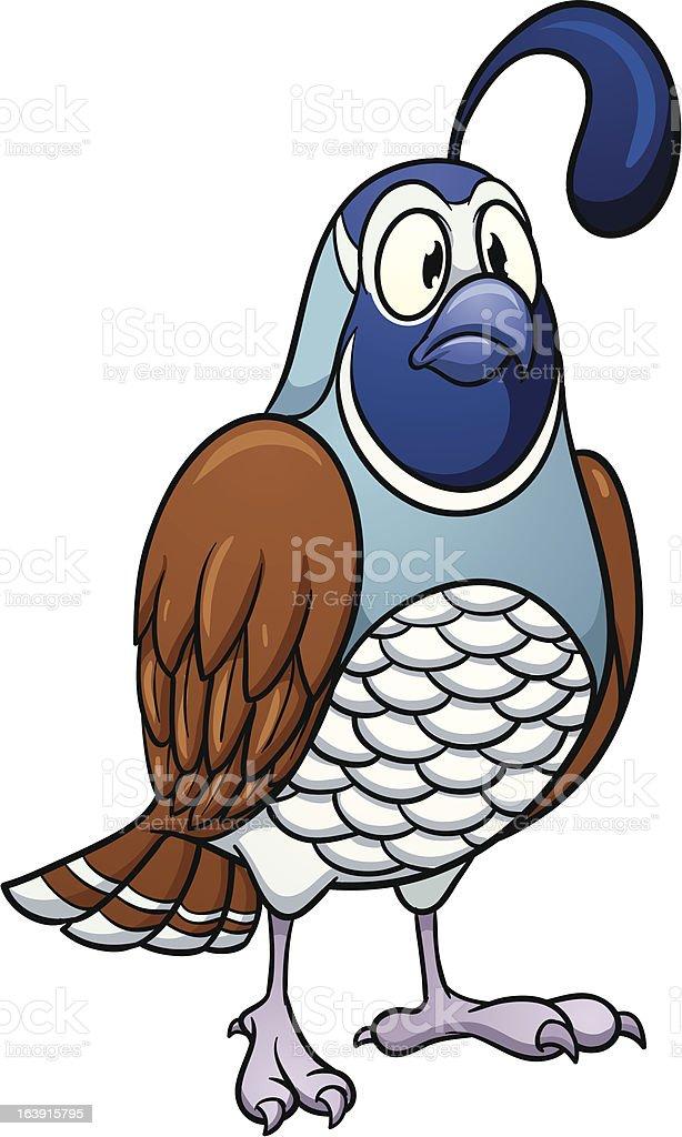 cartoon quail stock vector art more images of animal 163915795 rh istockphoto com quail clipart black and white quail clip art free