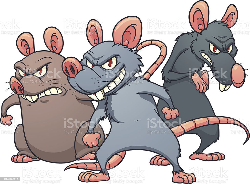 Cartoon rats royalty-free stock vector art