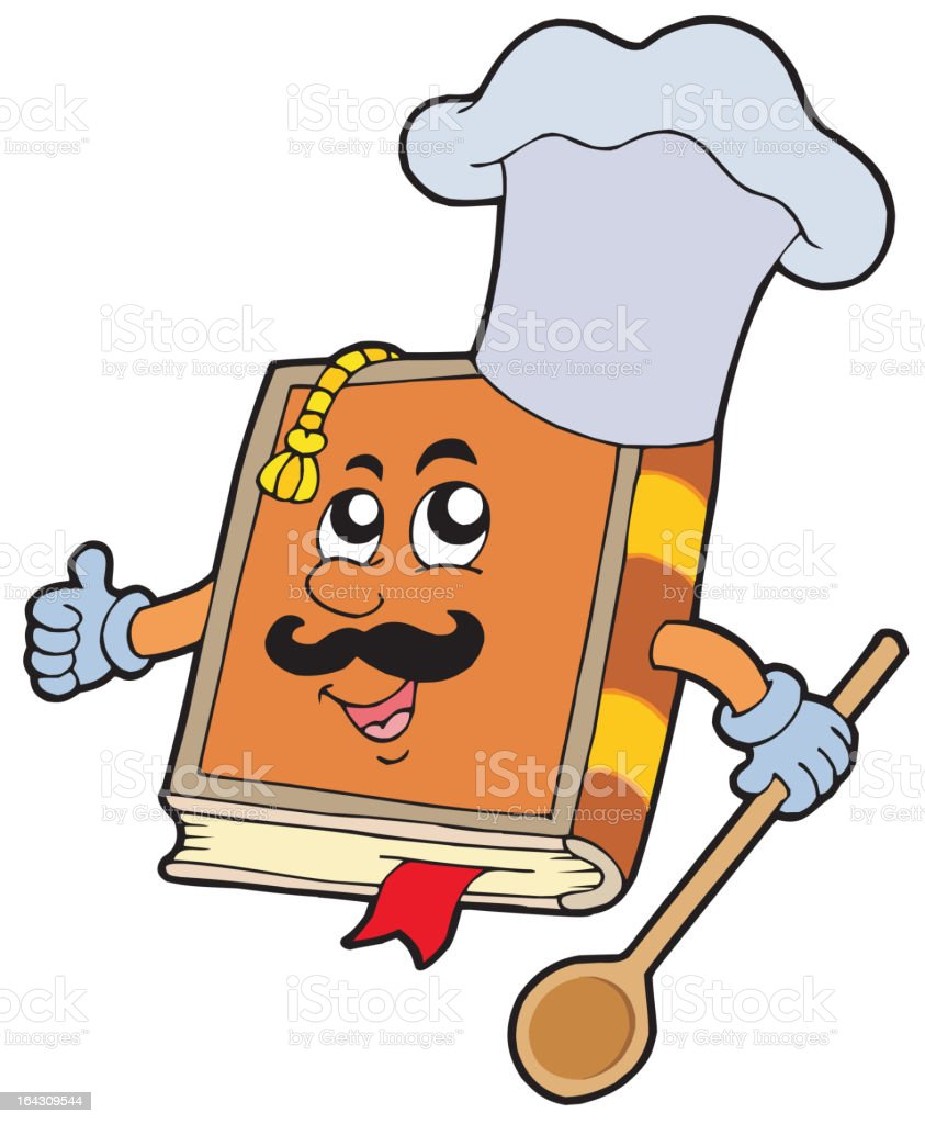 Cartoon recipe book royalty-free stock vector art