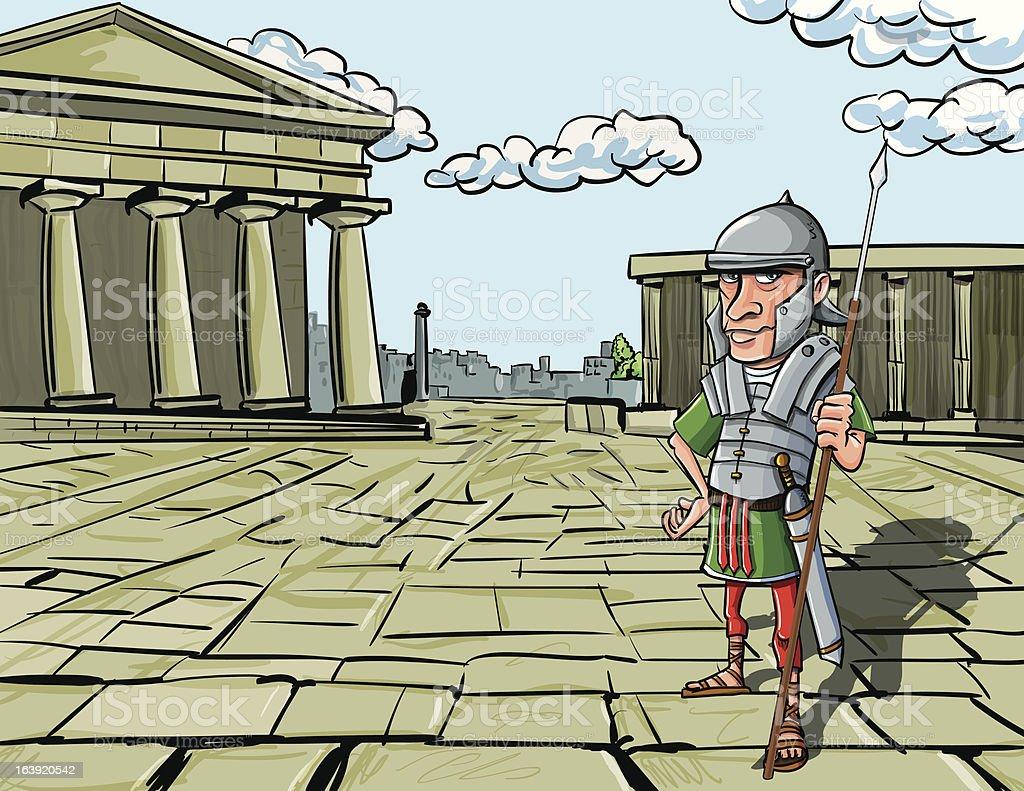 Cartoon Roman Legionary royalty-free stock vector art