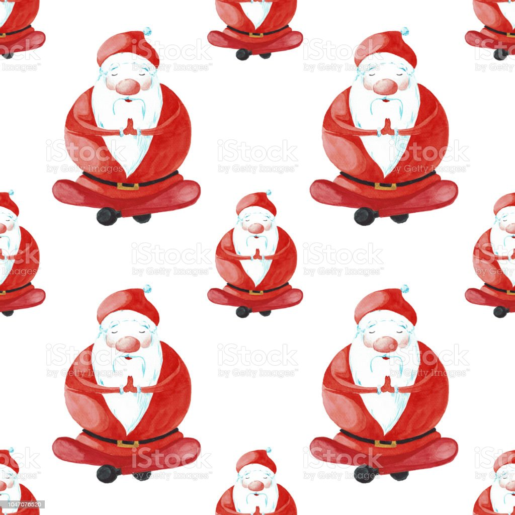 Dessin Anime Noel Dans Lune Des Poses Du Yoga Peint Laquarelle Isole