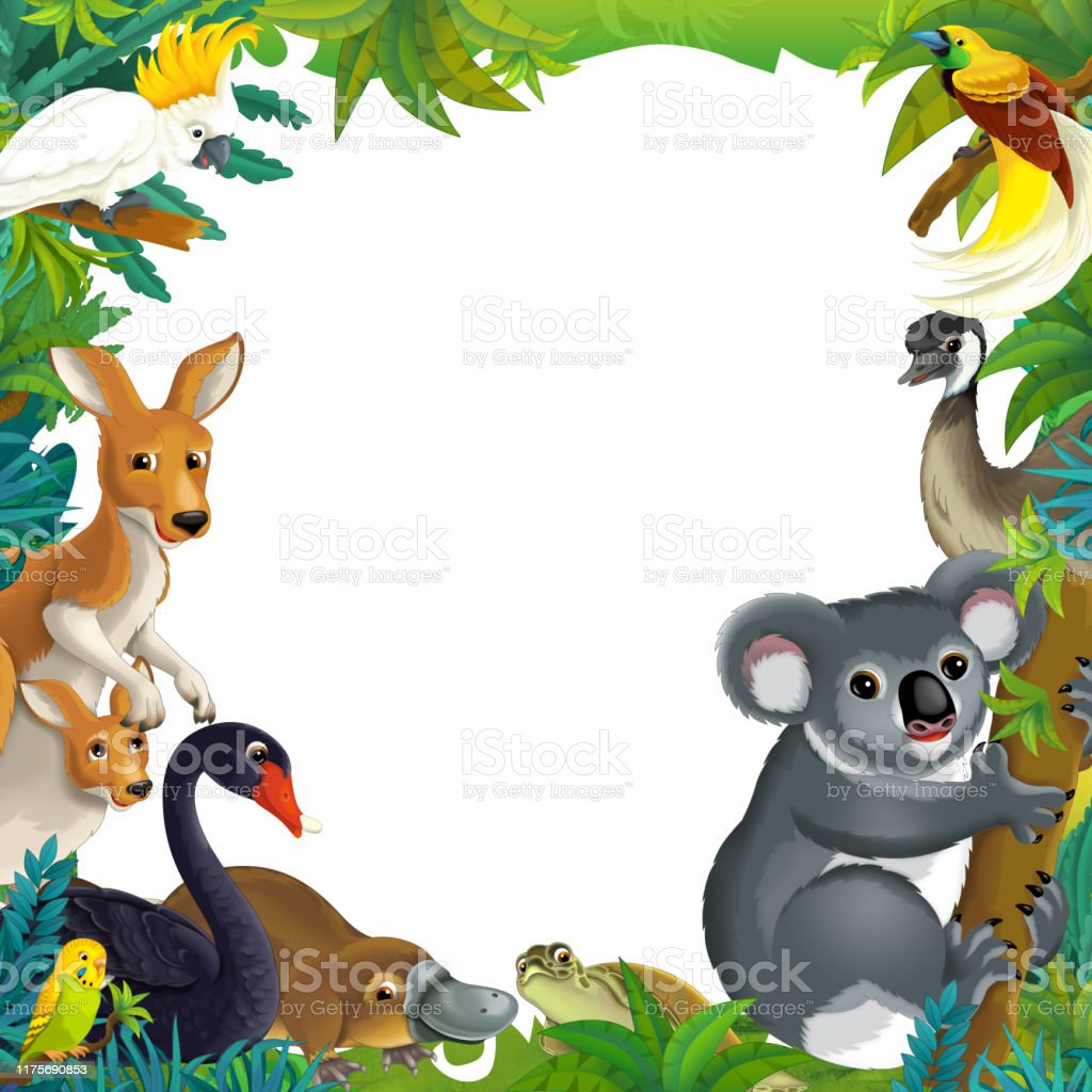 cartoon scene with nature frame and animals stock illustration download image now istock cartoon scene with nature frame and animals stock illustration download image now istock