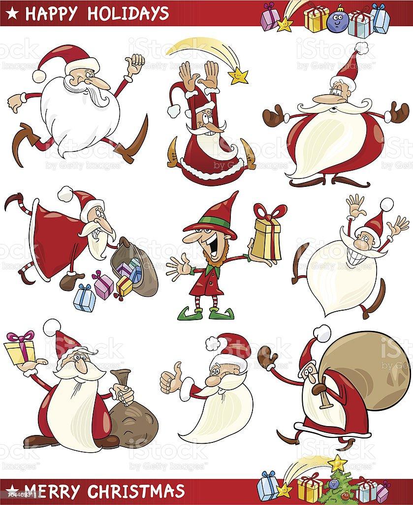 Themen Zu Weihnachten.Cartoon Satz Von Weihnachten Themen Stock Vektor Art Und Mehr Bilder