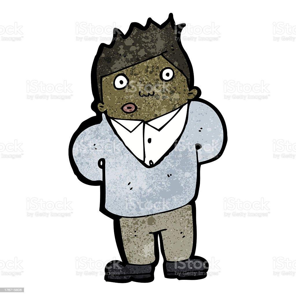 cartoon shy man royalty-free cartoon shy man stock vector art & more images of adult