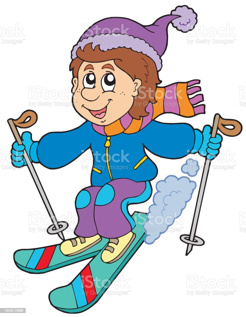Skifahrer Comic