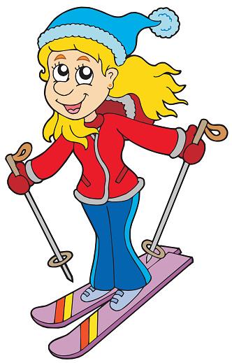 Bilder Skifahren Comic