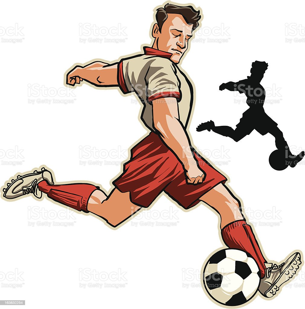 cartoon soccer player stock vector art more images of athlete