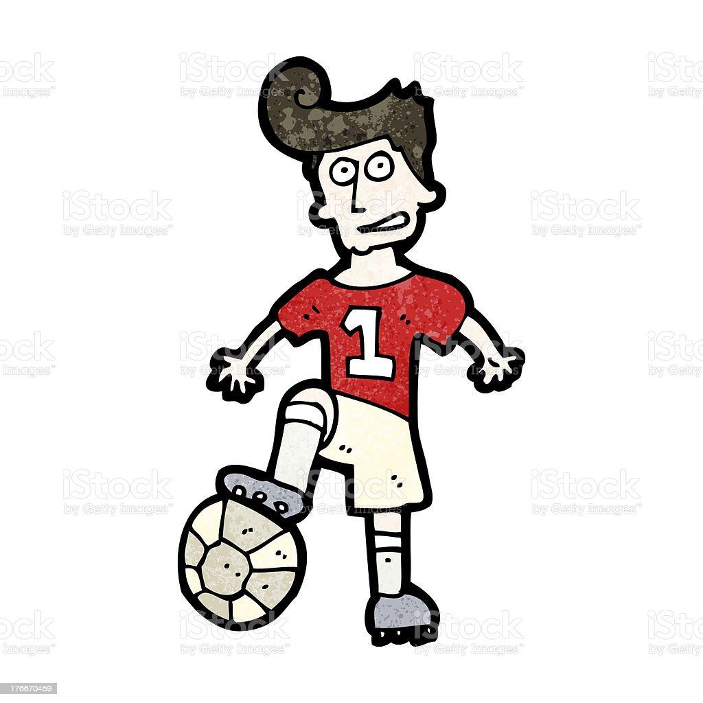 Historieta jugador de fútbol ilustración de historieta jugador de fútbol y más banco de imágenes de adulto libre de derechos