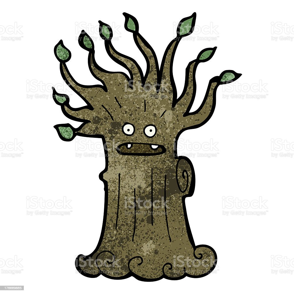 cartoon spooky old tree royalty-free cartoon spooky old tree stock vector art & more images of bizarre