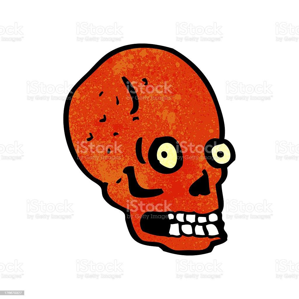 cartoon spooky staring skull royalty-free cartoon spooky staring skull stock vector art & more images of bizarre