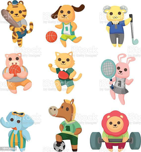 Cartoon sport animal icons illustration id164436553?b=1&k=6&m=164436553&s=612x612&h=xtfgqovg8acqa8ns6k5mllukxhd5z5ir8nmqxwxvo0u=