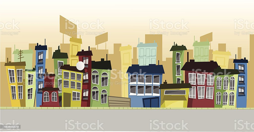 Cartoon street royalty-free stock vector art