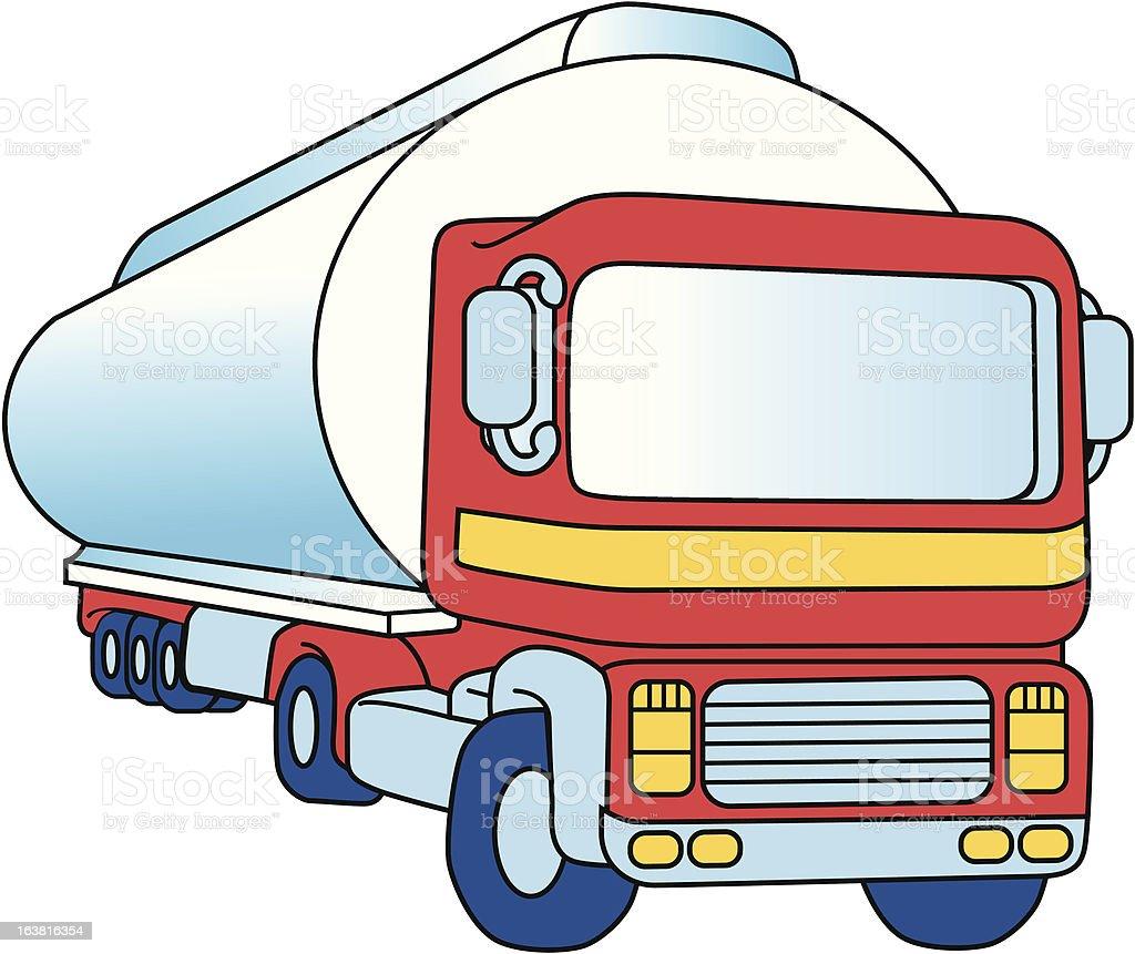Cartoon Tanker royalty-free stock vector art