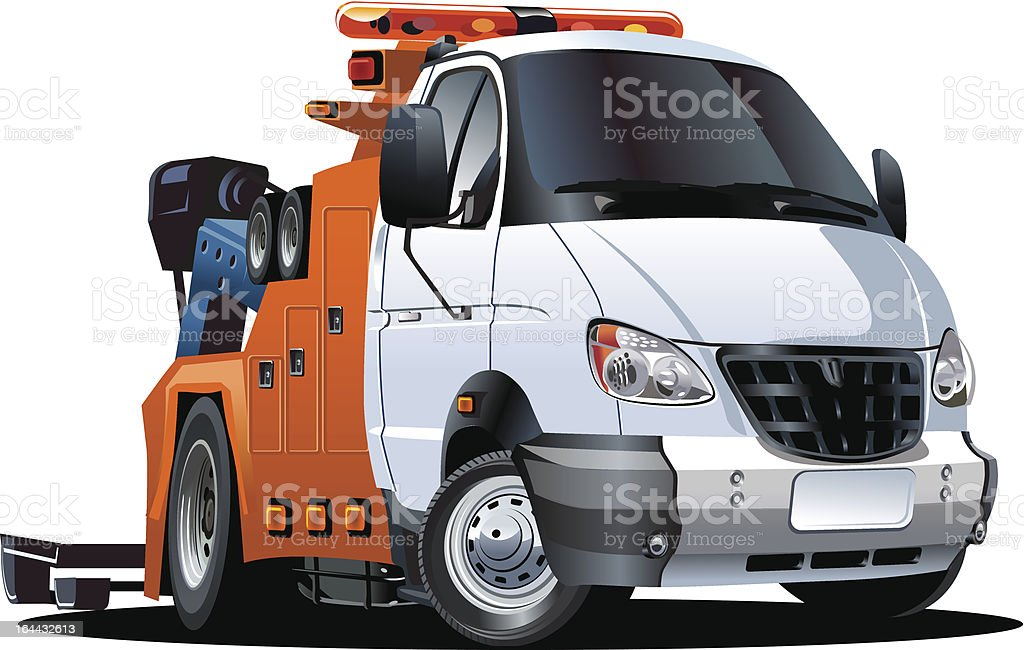 Cartoon tow truck royalty-free cartoon tow truck stock vector art & more images of accidents and disasters