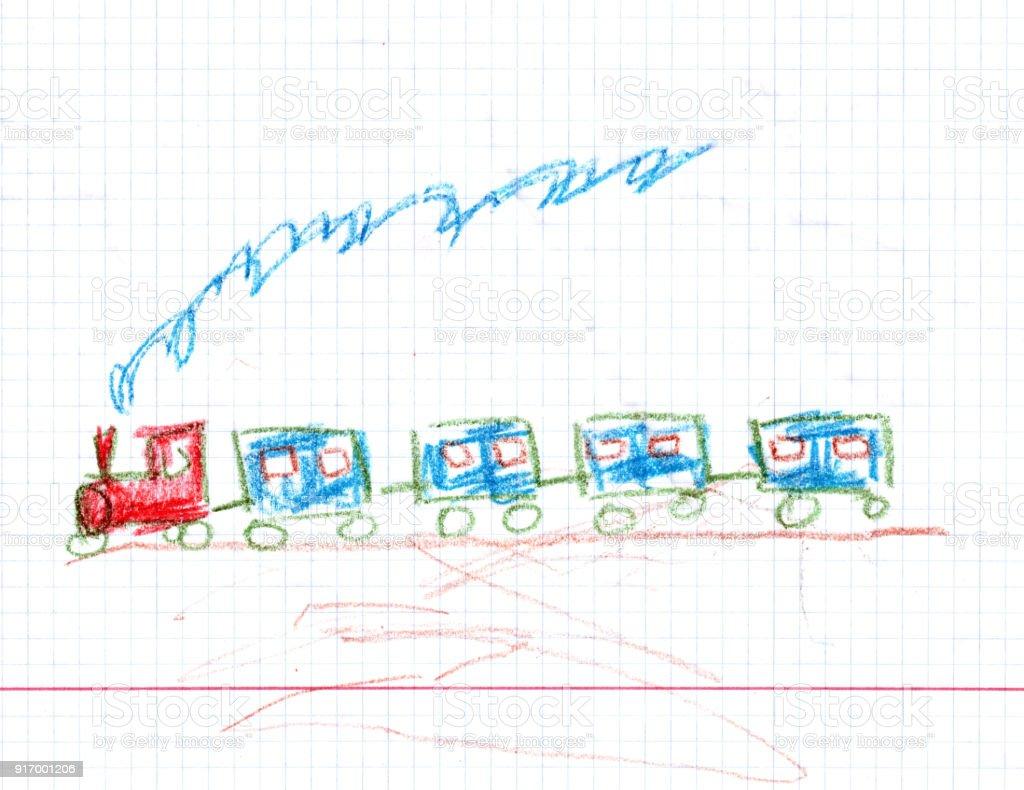 Cartoon Train illustration vector art illustration