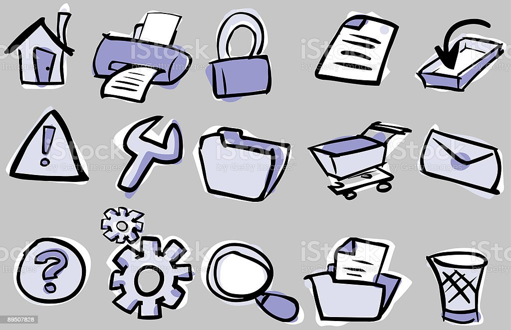 cartoon web and internet icons royalty-free stock vector art
