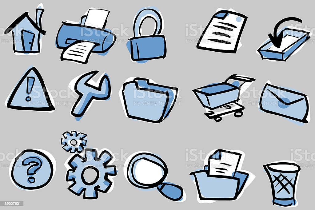 cartoon web and internet icons royalty-free cartoon web and internet icons stock vector art & more images of alertness