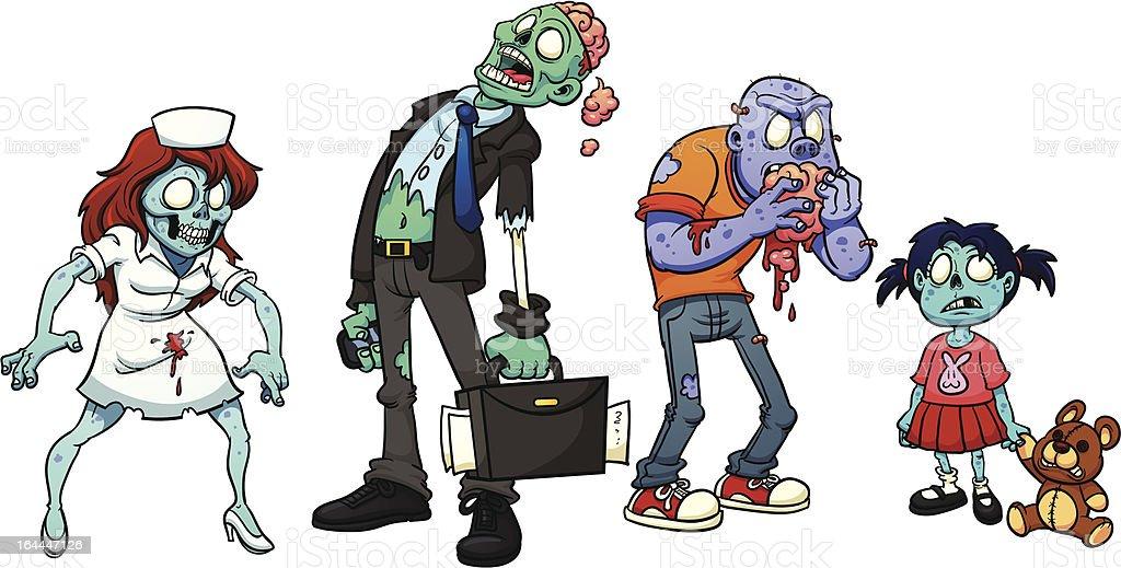 Cartoon zombies royalty-free stock vector art