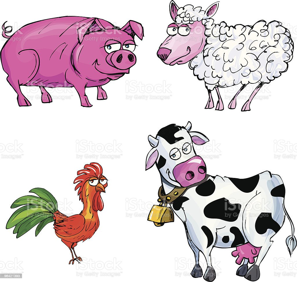 Cartooon meat animals royalty-free stock vector art