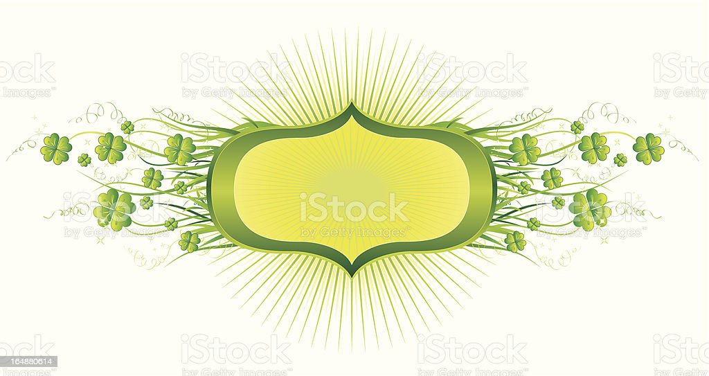 Cartouche for St. Patrick's Day royalty-free stock vector art