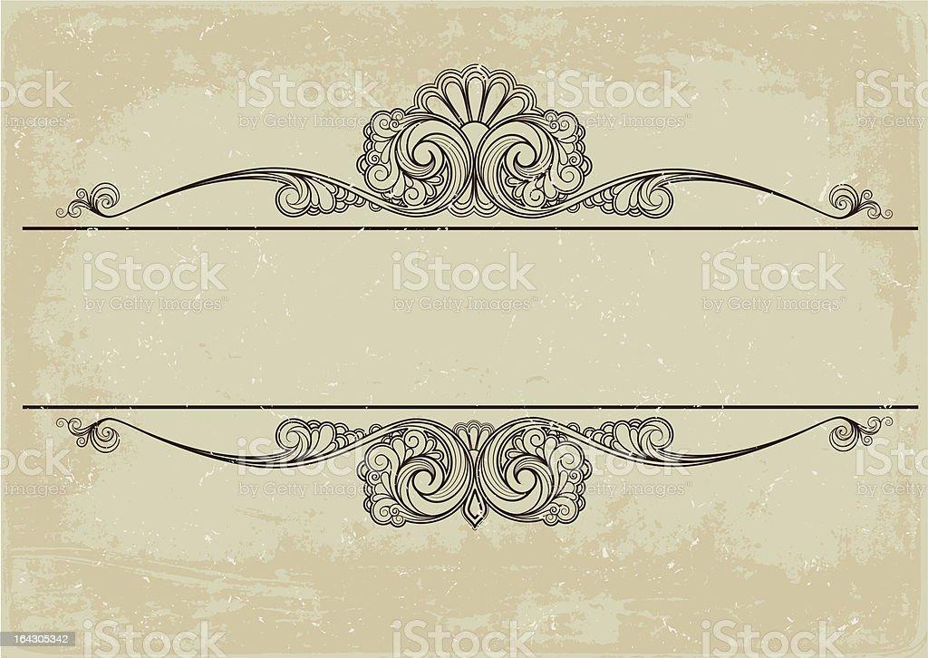 cartouche vector art illustration