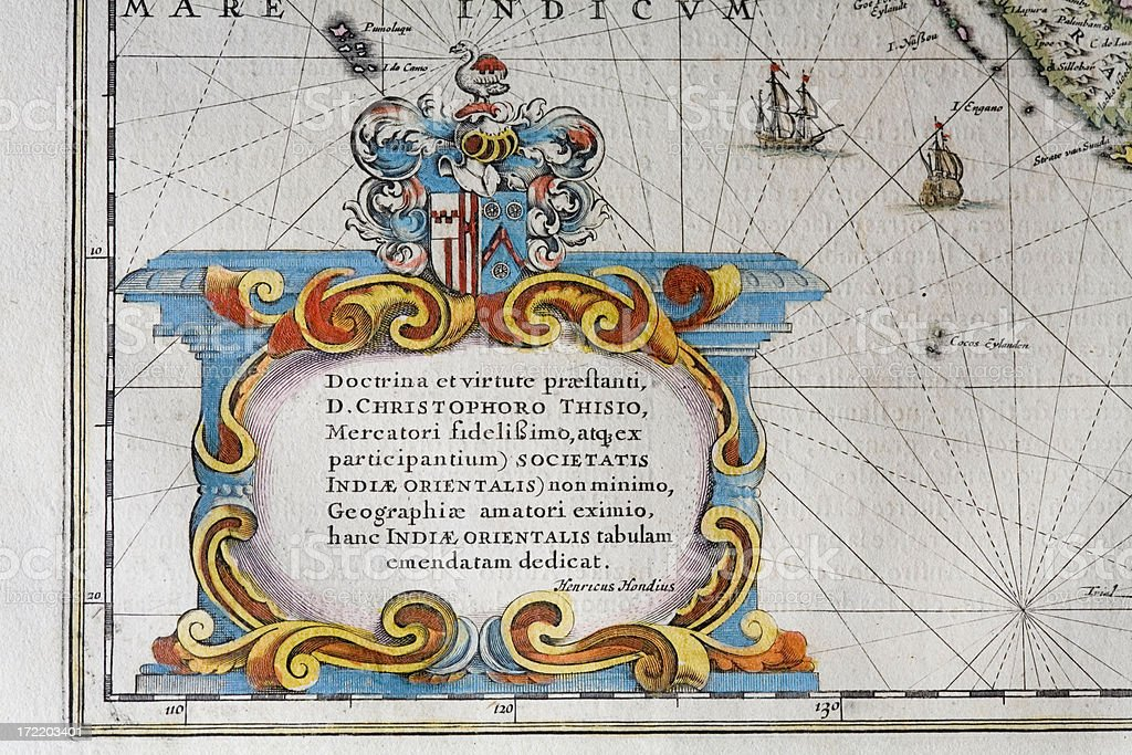 cartouche of an antique map royalty-free stock vector art